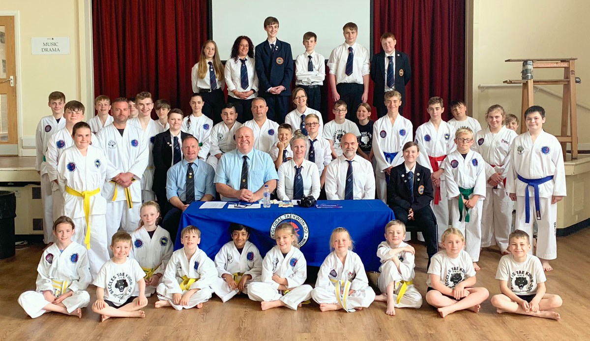 Bungay Taekwondo Students Summer belt grading 2019