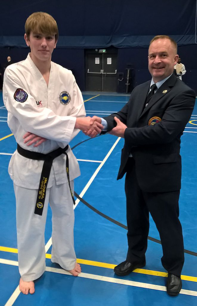 Congratulations to Ewan Lutz on passing his Black Belt examination